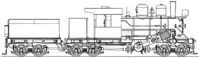 Diagram of a Climax locomotive