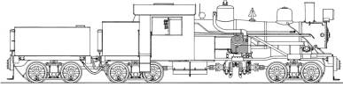 Diagram of a Heisler locomotive
